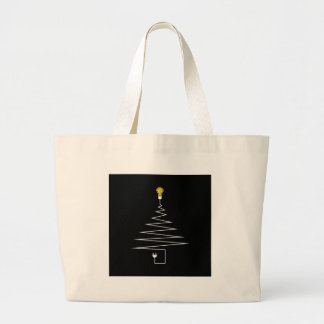 Electric Christmas tree Large Tote Bag