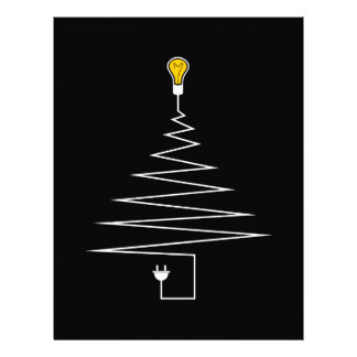 Electric Christmas tree Letterhead