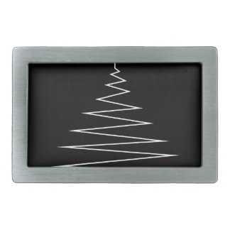 Electric Christmas tree Rectangular Belt Buckles