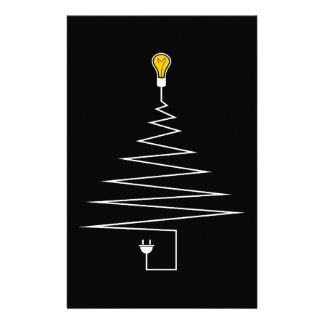 Electric Christmas tree Stationery