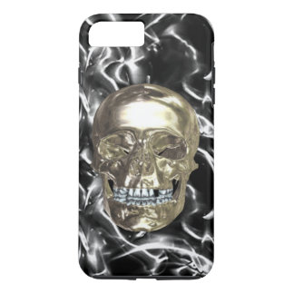 Electric Chrome Skull iPhone 7 Case