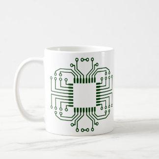 Electric Circuit Board Processor Coffee Mug