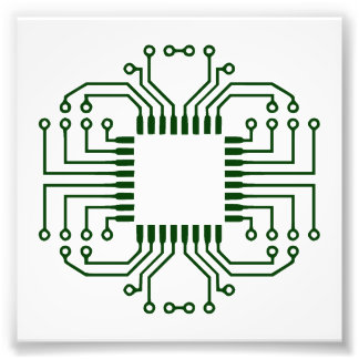 Electric Circuit Board Processor Photo Print