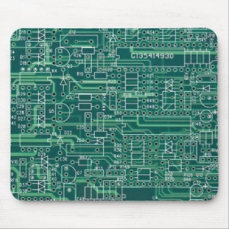 Electric circuit layout mouse pad