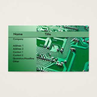 electric circuits - technician business card