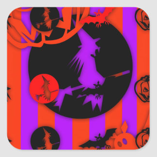 Electric Colors - Halloween - Square Sticker