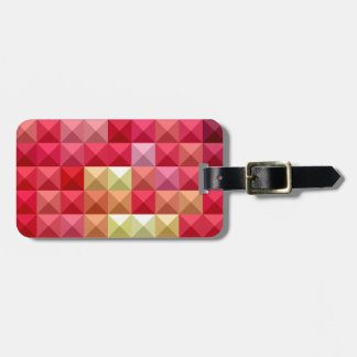 Electric Crimson Red Abstract Low Polygon Backgrou Luggage Tag