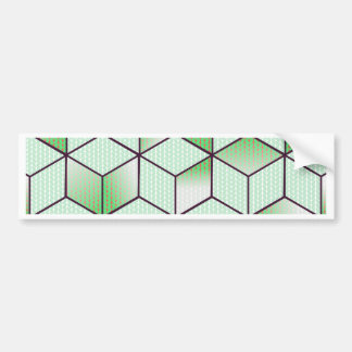 Electric Cubic Knited Effect Design Bumper Sticker