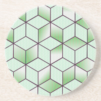 Electric Cubic Knited Effect Design Coaster