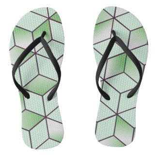 Electric Cubic Knited Effect Design Flip Flops