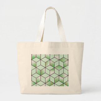 Electric Cubic Knited Effect Design Large Tote Bag