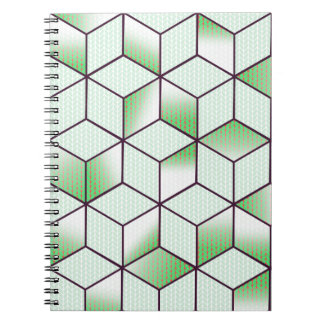 Electric Cubic Knited Effect Design Notebooks