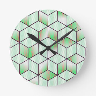 Electric Cubic Knited Effect Design Round Clock