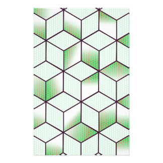 Electric Cubic Knited Effect Design Stationery