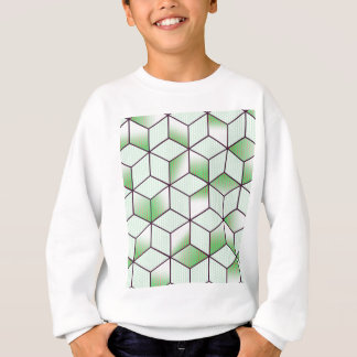 Electric Cubic Knited Effect Design Sweatshirt