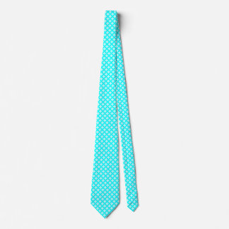 Electric Cyan Basic Shapes Tie