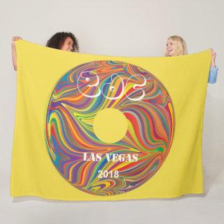 Electric Daisy Carnival Record Fleece Blanket