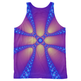 Electric Daisy Chain Fractal Print All-Over-Print Tank Top