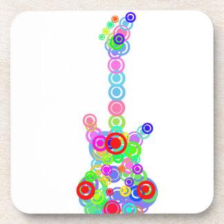 Electric digital Guitar circle design Music Coaster