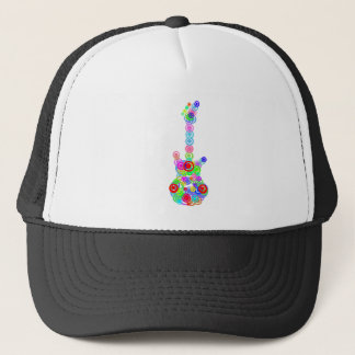 Electric digital Guitar circle design Music Trucker Hat