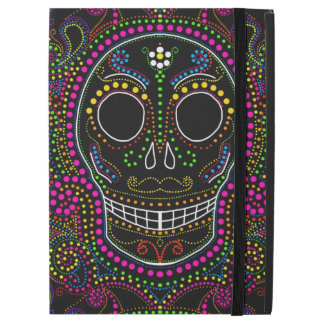 Electric dot sugar skull iPad Pro cover