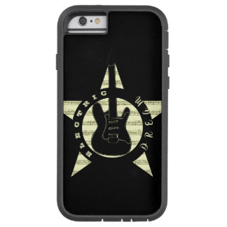 Electric Dream Guitar Rock Music Cool Black Star Tough Xtreme iPhone 6 Case