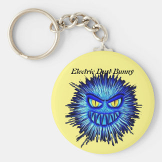 Electric Dust Bunny Basic Round Button Keychain