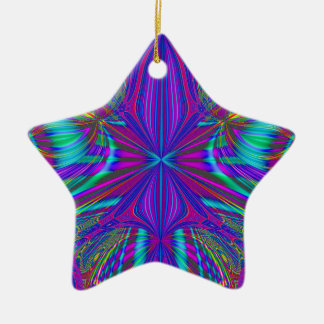 Electric Eclectic Ceramic Star Ornament
