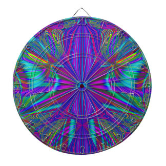 Electric Eclectic Dartboard With Darts