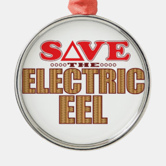 Electric Eel Save Silver-Colored Round Ornament