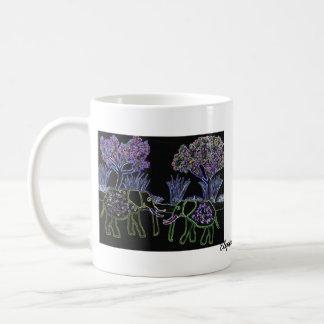 Electric Elephants Coffee Mug