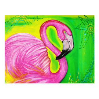Electric Flamingo Postcard