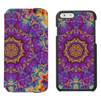 Electric Flower Purple Rainbow Kaleidoscope Art Incipio Watson™ iPhone 6 Wallet Case