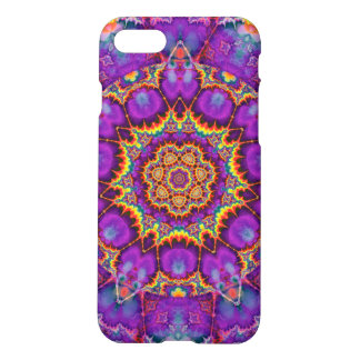 Electric Flower Purple Rainbow Kaleidoscope Art iPhone 7 Case
