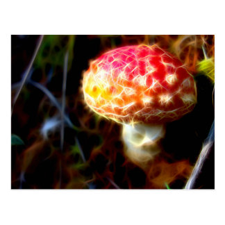 Electric Fly Agaric Postcard