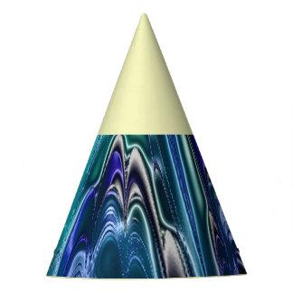 electric fractal 1c party hat