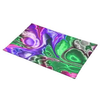 electric fractal 3 placemat