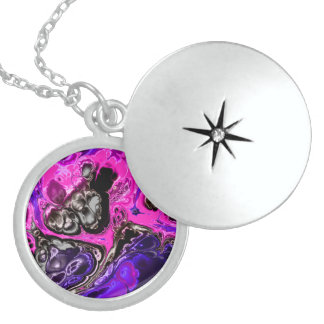 electric fractal 4 sterling silver necklace