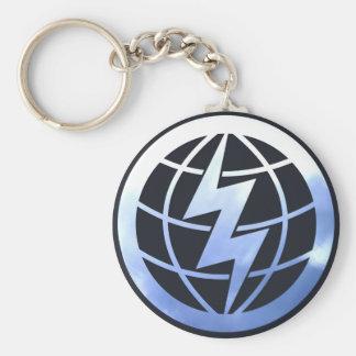 Electric Globe Keychain
