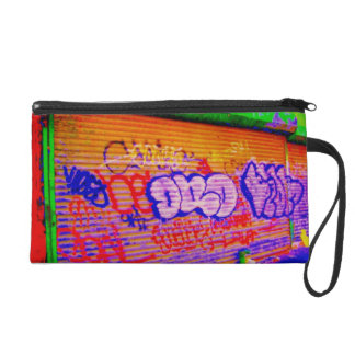 'Electric Graffiti Gates' Wristlet Purse