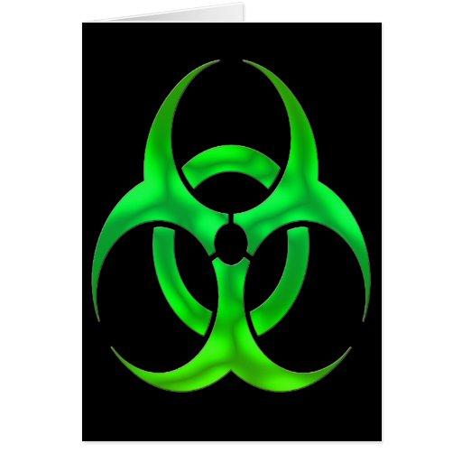 Electric Green Bio Hazard Cards