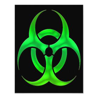 Electric Green Bio Hazard Custom Invites