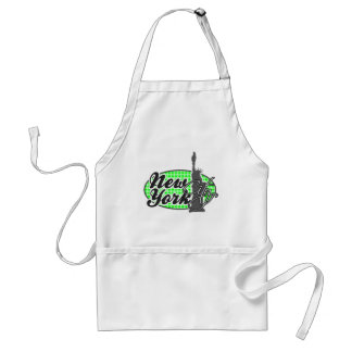 Electric Green Gingham; New York Apron