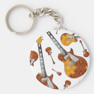 Electric Guitar 12.jpg Basic Round Button Keychain