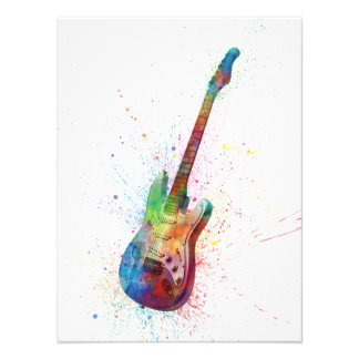 Electric Guitar Abstract Watercolor Photo Print