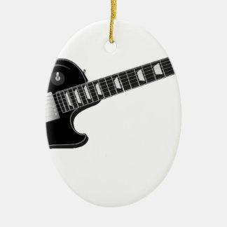 Electric Guitar Ceramic Oval Ornament