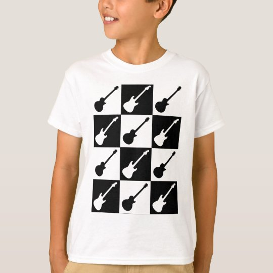 Electric Guitar Chequerboard T-Shirt
