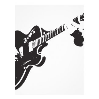 Electric Guitar Custom Letterhead