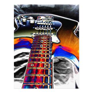 Electric Guitar Customized Letterhead