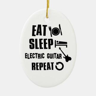 Electric Guitar designs Ceramic Ornament